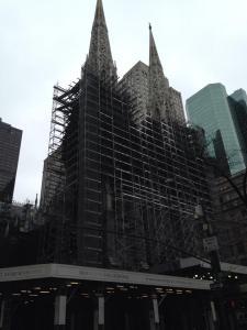 St. Patrick's - still under scaffolding!!! :(
