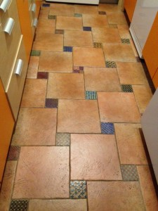 A close up of the kitchen floor, my favorite feature