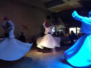 Whirling Dervishes - men that get into a deep state of prayer and twirl around.  Actually more impressive than it sounds.