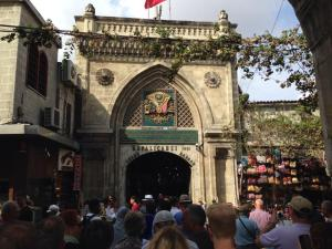 One of the entrances to the Grand Bazaar (bonkers!!)