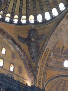 "Overheard in Hagia Sofia -  Nate: ""Well look at that hairy angel"""