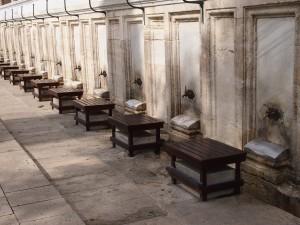 Foot-washing station outside of the Süleymaniye Mosque