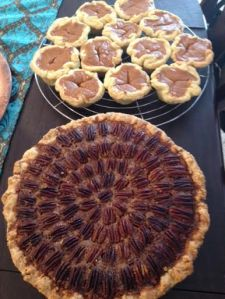 Pecan Pie and Pumpkin Pie tarts