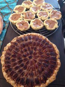 Pecan Pie and Pumpkin Pie tarts