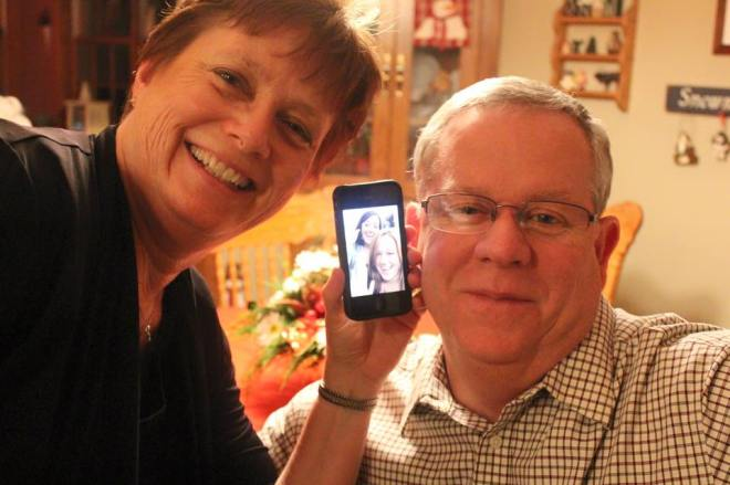 Facetime with my parents, I miss them so much!